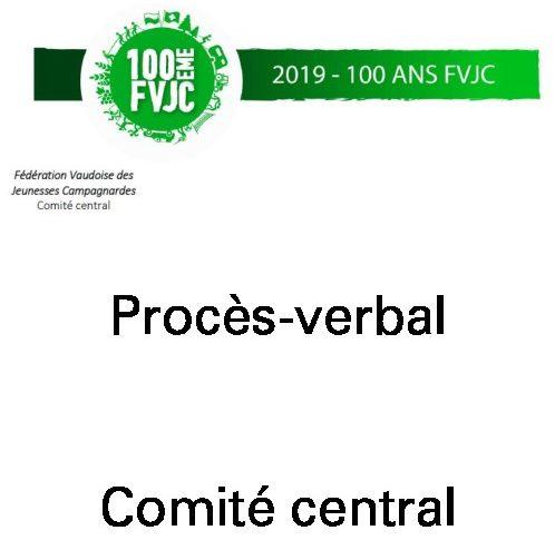 PV CC1 – Janvier